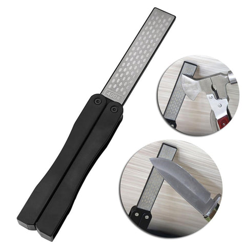 Knife Sharpener - New Double Sided Portable Pocket Sharpener Diamond Knife Sharpening Stone
