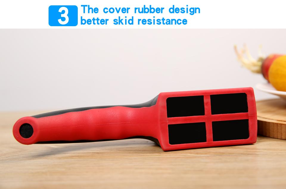 Image of Knife Sharpener - Non-Slip Silicone Rubber Knife Sharpener Professional 3 Stage Sharpener + Knife Grinder