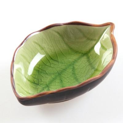 Plate - Decorative Small Sauce / Condiment Plate - Ice Crack Glaze Leaf Ceramic