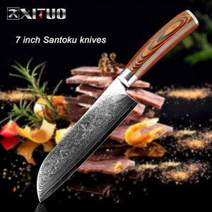 Chef Knife Damascus Bone Knife Utility Japan vg10 Micarta Handle - Great Deal