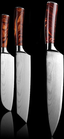 10 knife set of Japanese Damascus Knives -70% off Great Deal Great Gift
