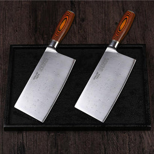 Professional 8 Inch Cleaver German Steel - Pakkawood Handle