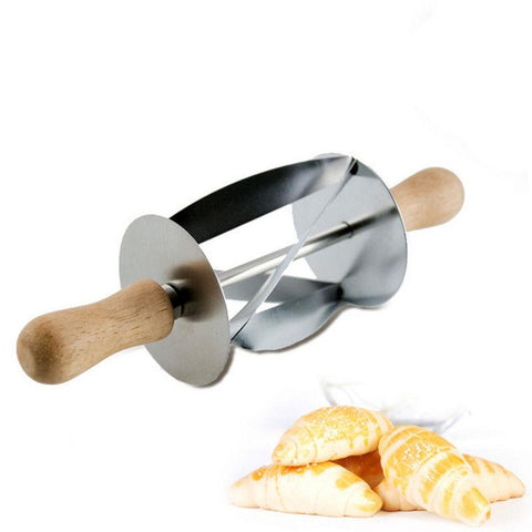 Image of Slicer - Stainless Steel Croissant Cutter Small Bread Pastry Cutter