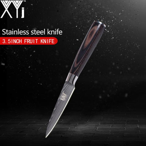 Image of Steel Knives - 3.5/ 5/ 5/ 7/ 8 Inch Japanese Damascus Stainless Steel Kitchen Knife Super Sharp