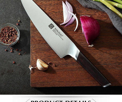 Image of Steel Knives - 8'' Chef Knife German Stainless Steel New Arrival (80% OFF)