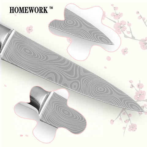 Image of Steel Knives - Chef Knife Set - 8 /5/ 3.5 Inch Damascus Stainless Steel Cooking Knives
