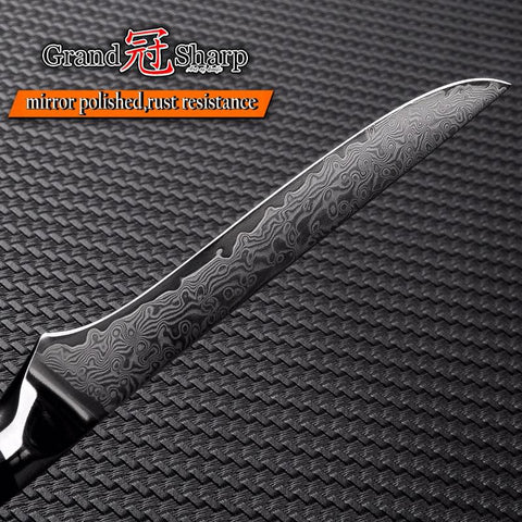 Steel Knives - Damascus Boning Knife 5.5 Inch Vg10 Japanese Damascus Steel Chef's Kitchen Knives