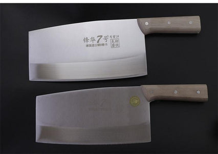 Steel Knives - German Steel Chef Curved Knife Slicing Knives Kitchen Meat Cutter Cleaver