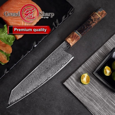 Steel Knives - Handmade Chef Knife Japanese Damascus Steel 67 Layers VG10  Luxury Kitchen Knives