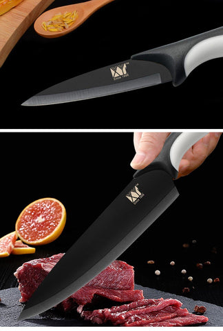 Steel Knives - High Carbon Stainless Steel Knife 6 Piece Set 8, 8, 8, 7, 5, 3.5 Inch High Grade Set