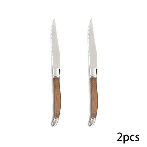 Image of Steel Knives - High-end Restaurant Laguiole Steak Knives - Stainless Steel Steak Knives - Excellent Gift