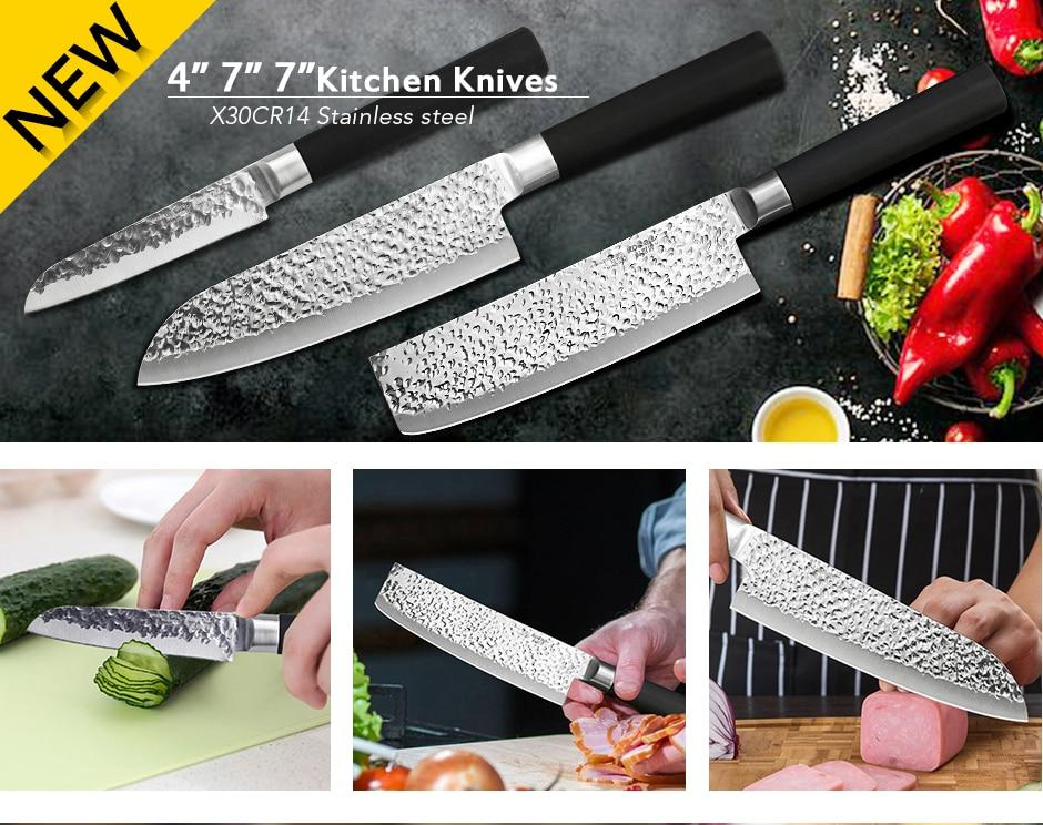 High Quality Japanese Super Sharp Professional kitchen knife Set 3PC -  Makes Great Gift!