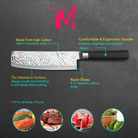 Steel Knives - High Quality Japanese Super Sharp Professional Kitchen Knife Set 3PC - Makes Great Gift!