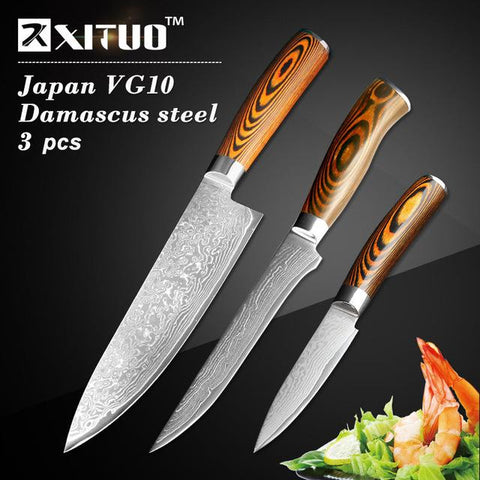 Image of Steel Knives - High Quality Utility Knife Japanese VG10 73 Layer Damascus Steel Knives