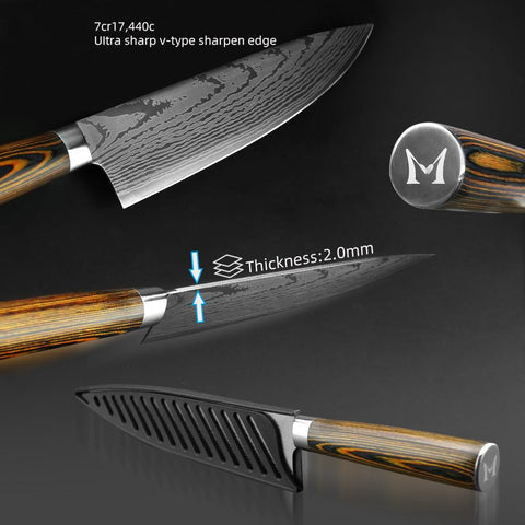Image of Steel Knives - Kitchen Knife Chef Knives Japanese 7CR17 440C High Carbon Stainless Steel