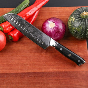 Steel Knives - Mokithand 4pcs Japanese Kitchen Knife Sets Damascus Steel Chef Knives 67 Layer Sharp VG10