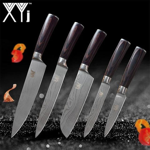 Steel Knives - New Arrival High Carbon Stainless Steel Knives Set Wood Handle