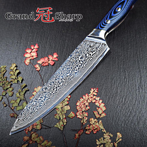 Image of Steel Knives - Pro 67 Layers Japanese Damascus Chef Knife 8 Inch VG-10 Steel G10 Handle