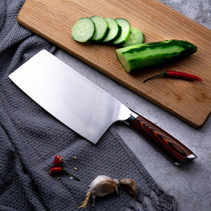 Steel Knives - Sharp 7 Inch Damascus Steel Cleaver Japanese Chef