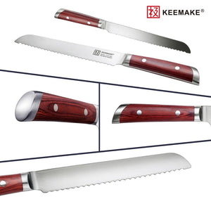 "Steel Knives - Sharp Stainless Steel KEEMAKE 8"" Inch Chef Knife"