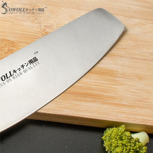 "Steel Knives - SOWOLL 4cr14mov Stainless Steel Blade Single 6"" Chef Knife Resin Fiber Handle"