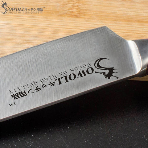 "Image of Steel Knives - SOWOLL 4cr14mov Stainless Steel Blade Single 6"" Chef Knife Resin Fiber Handle"