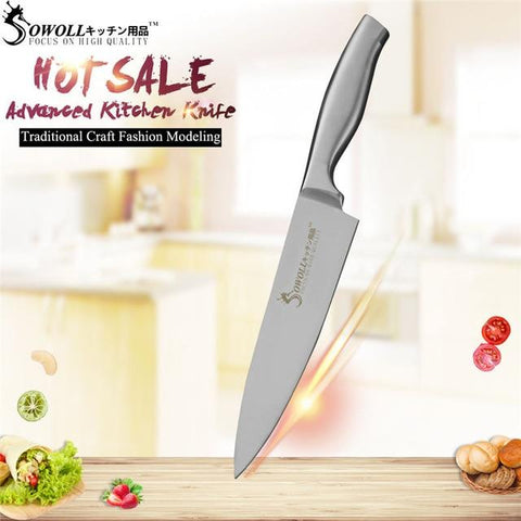 Image of Steel Knives - SOWOLL Super Sharp Stainless Steel Knife Set High Hardness Kitchen Knives Professional