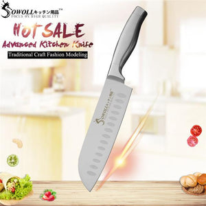 Steel Knives - SOWOLL Super Sharp Stainless Steel Knife Set High Hardness Kitchen Knives Professional