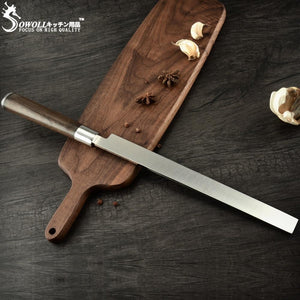 Steel Knives - Sowoll Watermelon Knife Stainless Steel Kitchen Slicer Knife Super Sharp Blade Watermelon Cutter