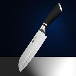 Steel Knives - Stainless Steel Chef Knife Santoku Meat, Fruit, Vegetable Cleaver