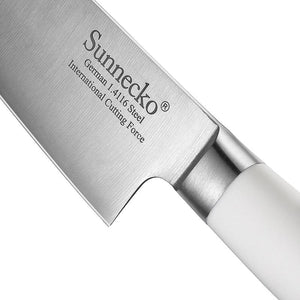"Steel Knives - SUNNECKO 8"" Chef Knife W/ Finger Hand Guard"
