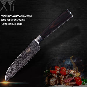 Ultra-thin Damascus Stainless High Carbon Steel Blade Kitchen Knives