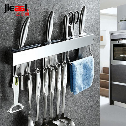 Image of Steel Knives - Wall Hooks Stainless Steel For Knife Racks, Pendant, Kitchen Racks Tool Storage