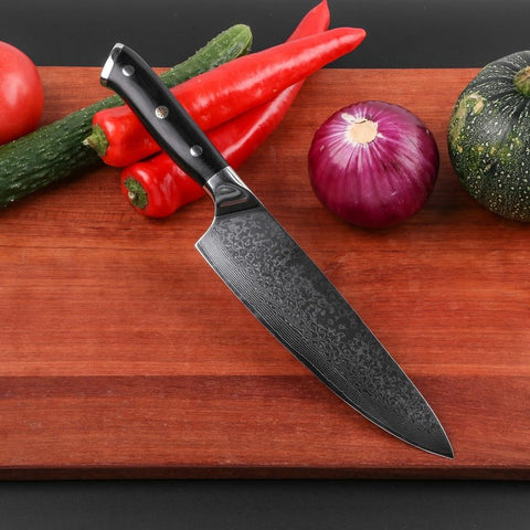 Image of Steel Knives - Wilson 3pcs Japanese Kitchen Knife Set 67 Layer Damascus Steel Sharp VG10