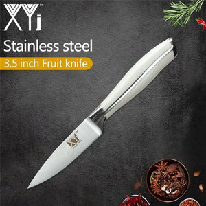 Steel Knives - XYj 6 Piece Stainless Steel Knife Set High Carbon Sharp Thin Blade Comfortable Handle Kitchen Knives Meat Fish Cooking Tool