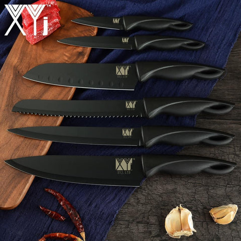 Image of Steel Knives - XYj Germany Stainless Steel Kitchen Knife Set Chef Cutlery
