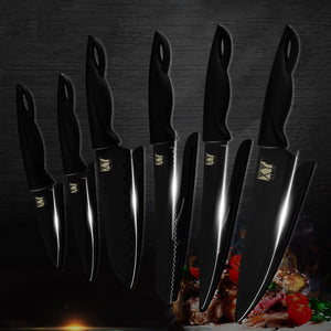 Steel Knives - XYj Germany Stainless Steel Kitchen Knife Set Chef Cutlery