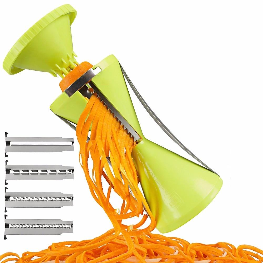 Vegetable Spiralizer Grater Vegetable Spiral Slicer For Carrot Cucumber Courgette