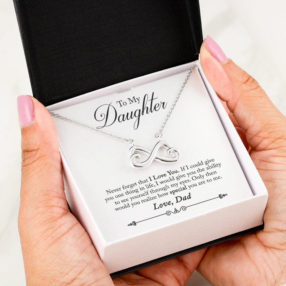 Dad To Daughter Never Forget Infinity Heart Necklace