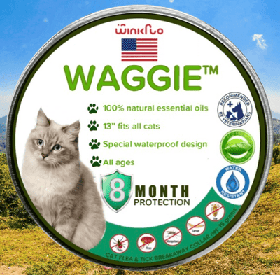 Waggie™ - Natural Anti-Flea, Tick, & Mosquito Collar For Cats (Break-Away)