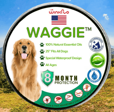 Waggie™ - Natural Anti-Flea, Tick, & Mosquito Collar (Advanced Protection)