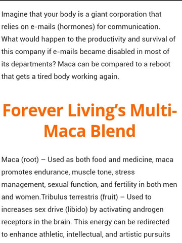 Forever Multi Maca supplements @ gh-beautymall