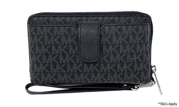 Michael Kors Women's Jet Set Travel Medium Zip Around Phone Holder Wallet