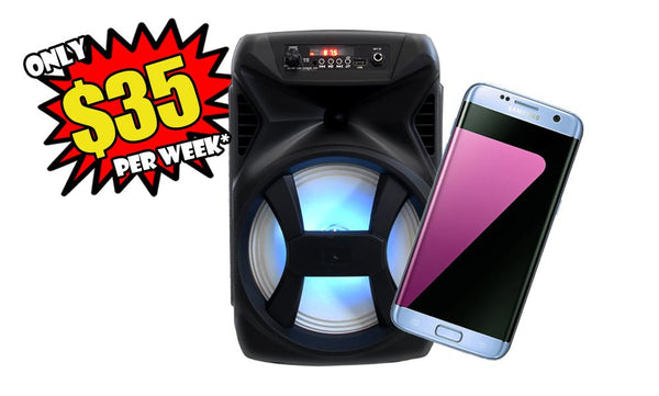 Samsung Galaxy S7 Edge 32GB & Ministry 007 Bluetooth Speaker combo - Layaway Depot AUS