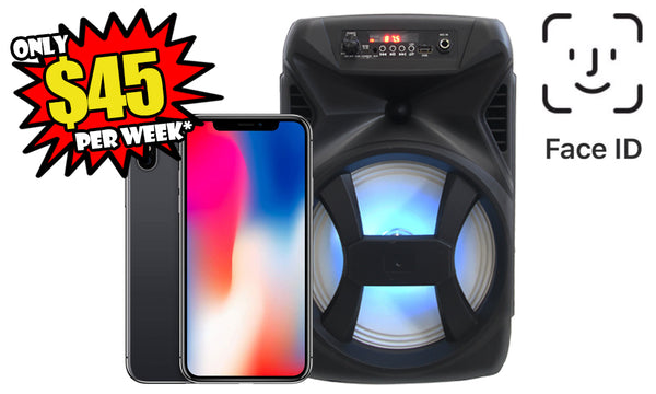 iPhone X 64GB Refurbished with Face ID & Ministry 007 Speaker combo