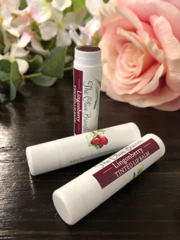Lingonberry Tinted Lip Balm {vegan}