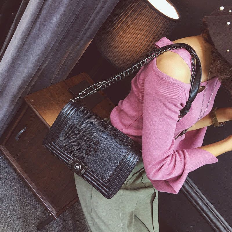 New Occident Designers Fashion Crocodile Grain leather Women Crossbody Bag Women Messenger Bag Women Shoulder Bag Channels