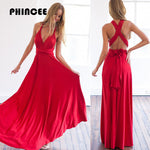 PHINCEE Bandage Dress Women Summer 2017 Hot Halter Sleeveless Backless Maxi Sundress Female Long Floor-Length High Waist Vestido