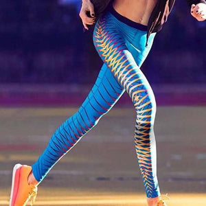 Women High Quality Sports Gym Yoga Workout 3D Print Fitness Lounge Athletic Pants #E5