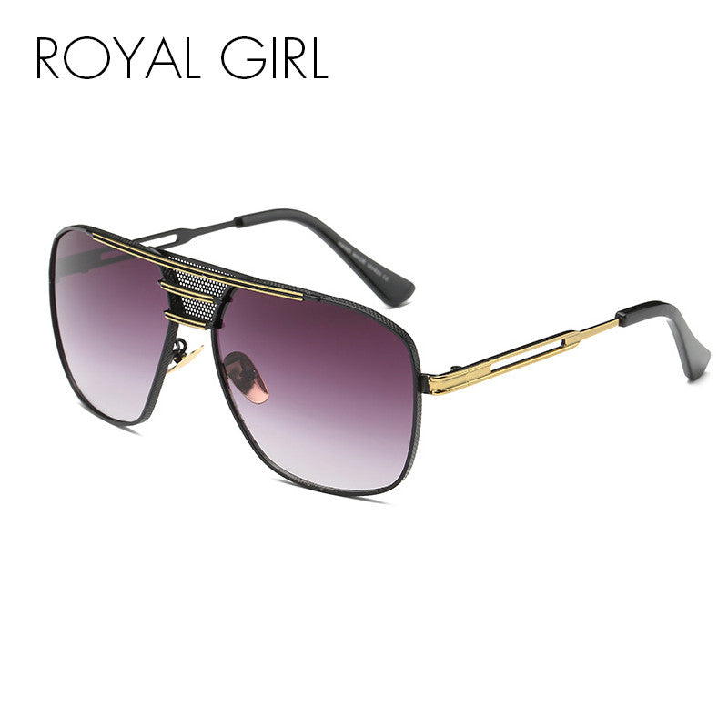 ROYAL GIRL High Quality Men Vintage Sunglasses Women metal frames shades Oculos female ss912